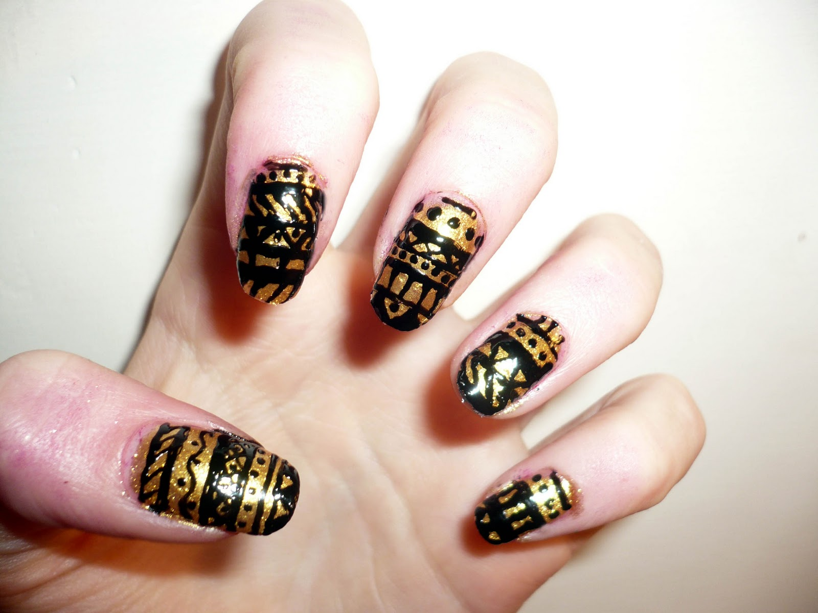Gold Nail Art Designs Best Nail 2017 Nail Art Diy Red Nails With intended for Incredible  easy nail designs black and gold for your inspiration