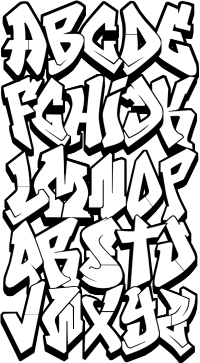 5 Custom Graffiti Fonts Images