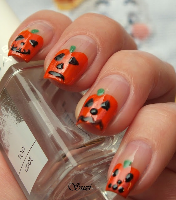 9 Pumpkin Nail Art Designs Images