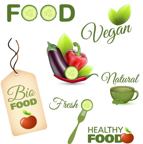 10 Healthy Food Vector Icons System Images
