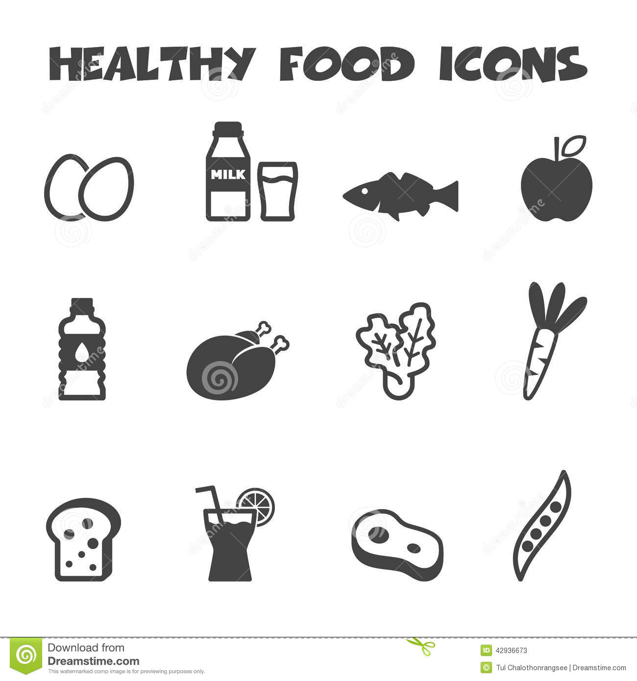 Healthy Food Vector Icons