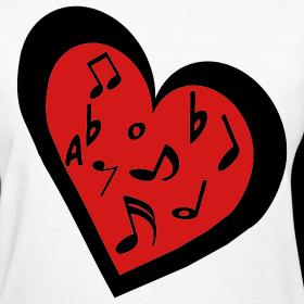 Heart Music Note Design