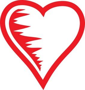 Heart Outline Clip Art Designs