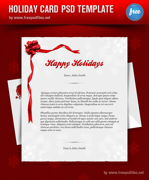 Holiday Greeting Card Template via