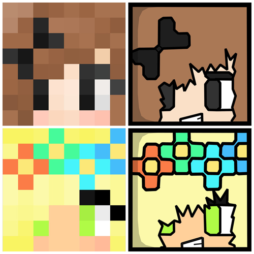 How to Make a Minecraft Cartoon Icons