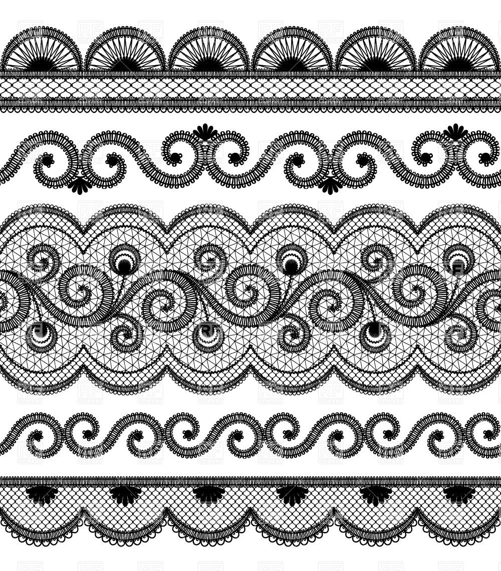 lace border drawing - photo #4