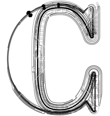 10 Letter C Vector Images