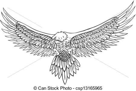 14 Vector Eagle Line Drawing Images
