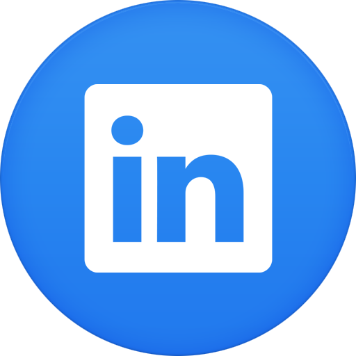 15 LinkedIn Circle Icon Vector Images