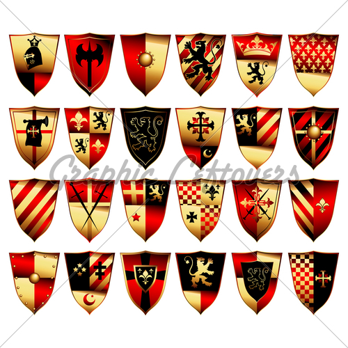 12 Medieval Shield Designs Images