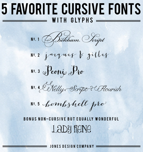 9 Cursive Fonts For Microsoft Word Images