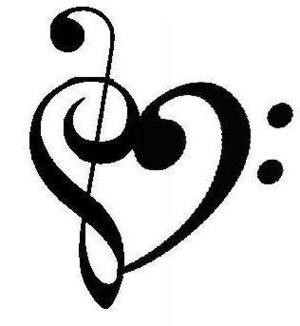 Music Note Heart Tattoo Designs