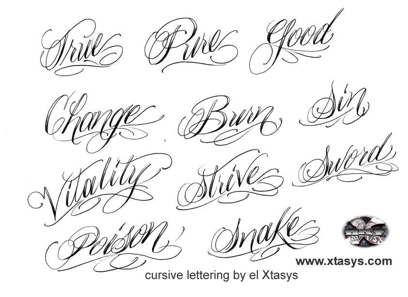 Tattoo lettering fonts generator imgkid the