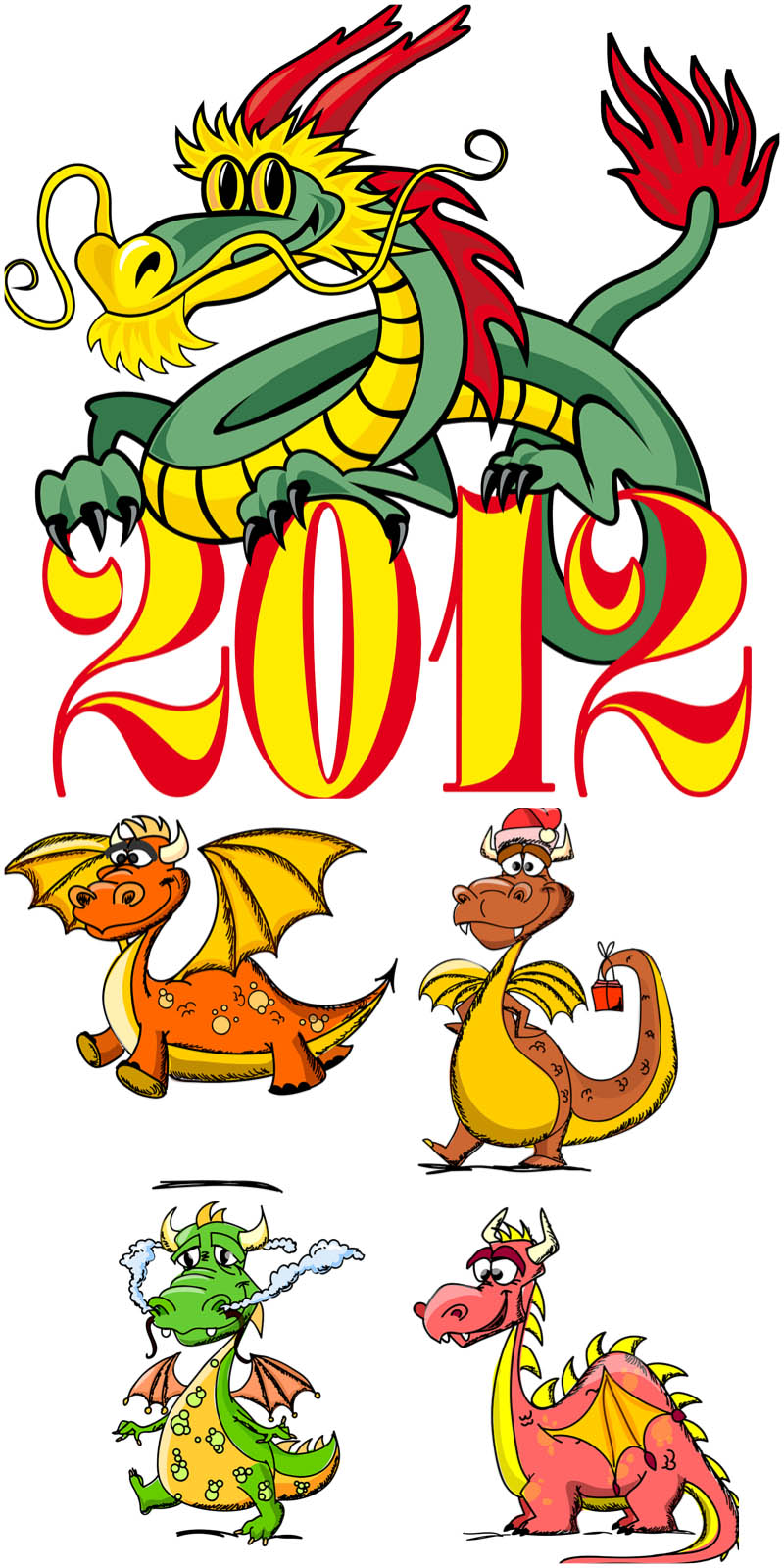 New Year's Dragon Cartoon