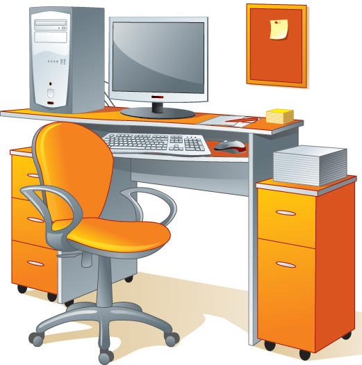 19 Vector Desk And Chairs Images Free Vector Clip Art
