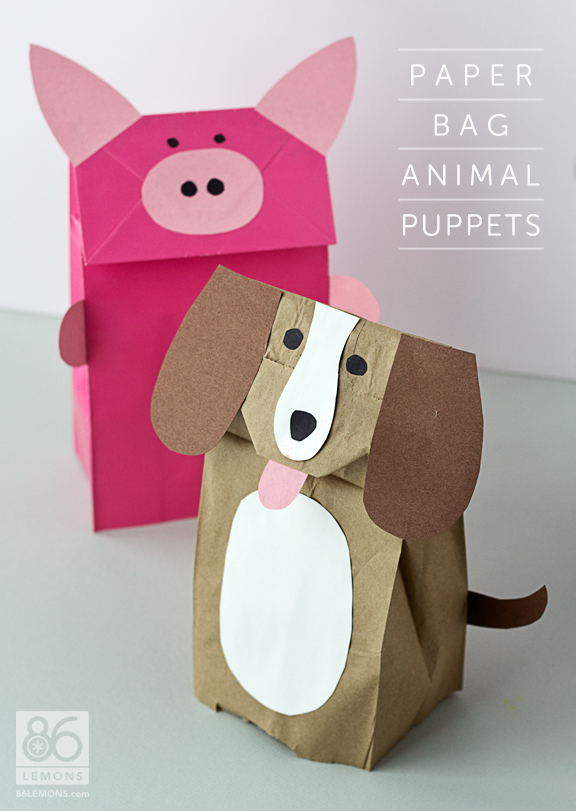 17 Animal Paper Bag Templates Images