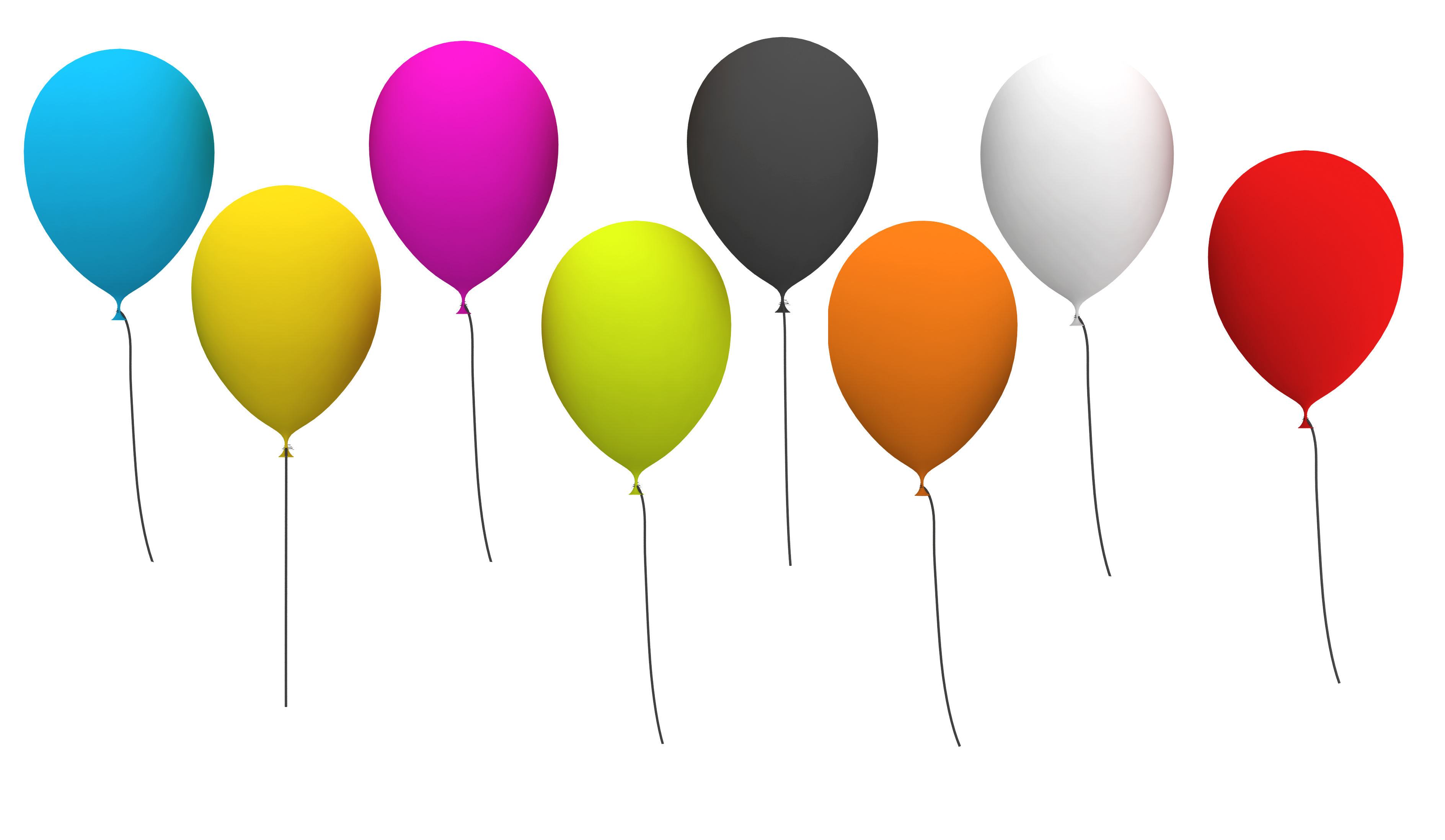 Party Balloons Clip Art Free