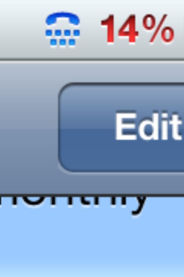 Phone Icon iPhone Status Bar