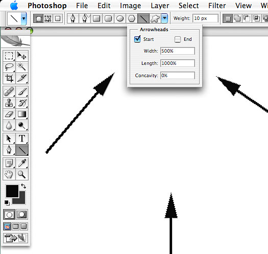 Drawing Lines With Photo Cs : Line tool photoshop cs images