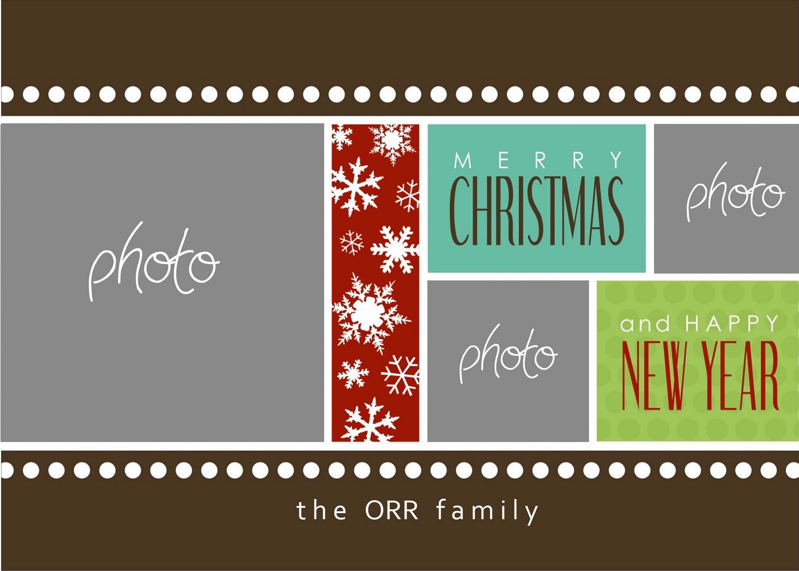 8 Free Photoshop Christmas Card Templates Images