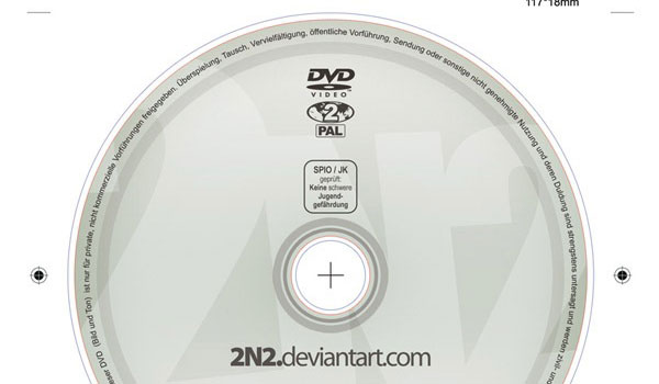 Photoshop DVD Label Template