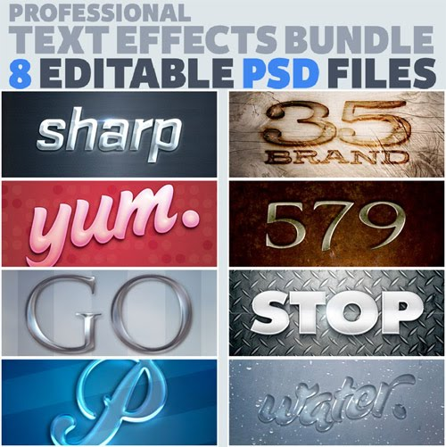 Photoshop Text Effects PSD