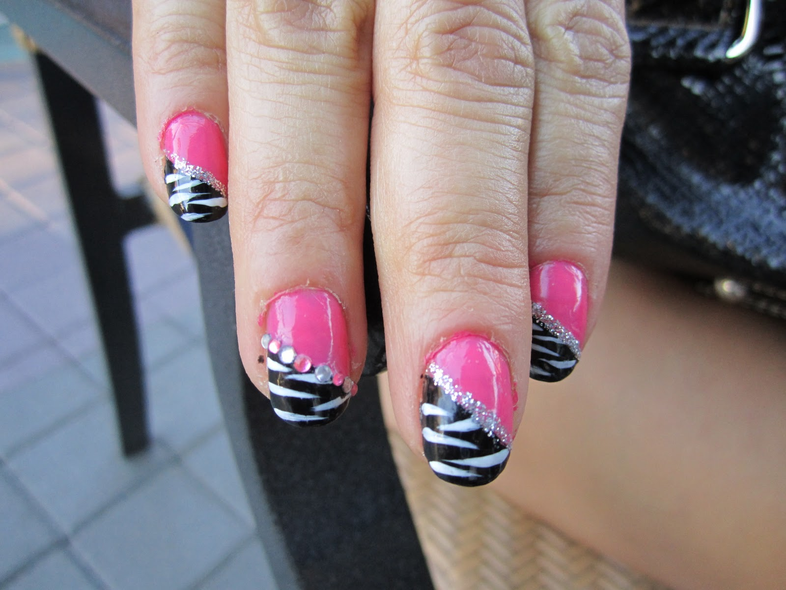 14 Pink And Black Nail Designs Images