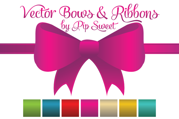 9 Cream Ribbon Bow Vector Images