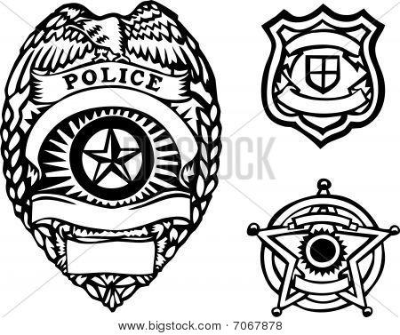 14 Vector Police Badge Outline Images - Police Badge Outline