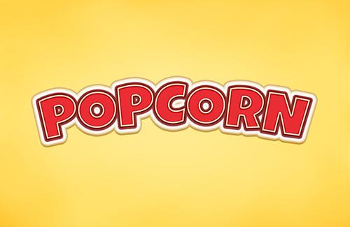 Popcorn PSD Text Effect