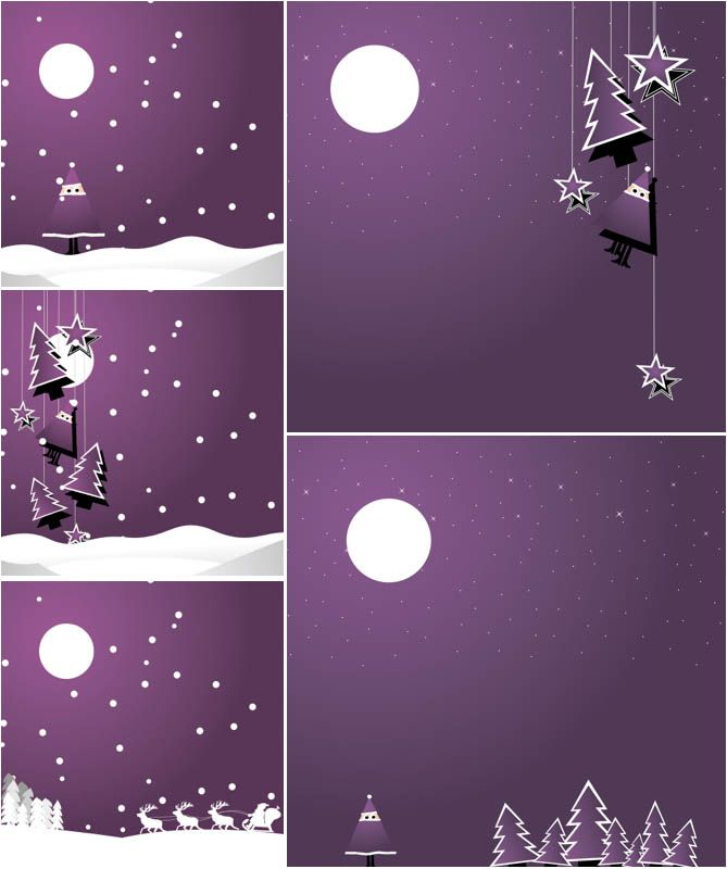 9 Purple Christmas Backgrounds Vector Images