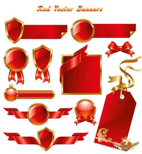 Red and Gold Vector Banners