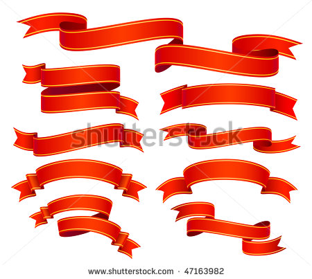 Red Banner Vector