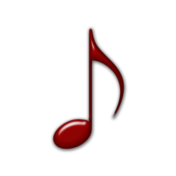 12 Red Danger Music Note Icon Images