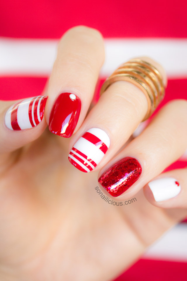 11 Red And White Nail Designs Images