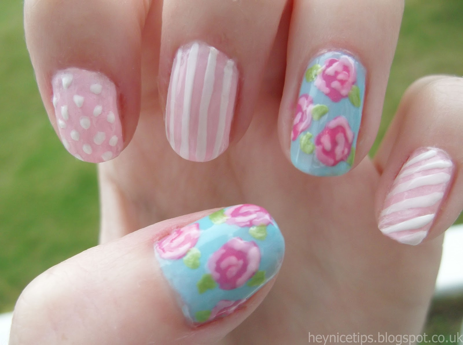 10 Rose Nail Designs Images