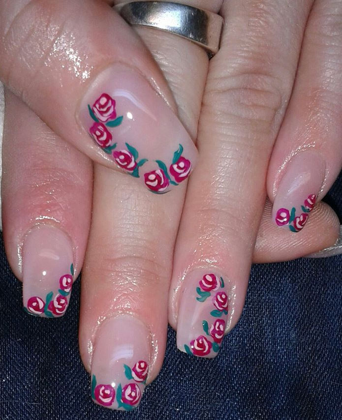 Nail Art Designs For Short Nails Flowers Hession Hairdressing