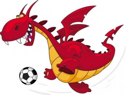 Running Dragon Clip Art