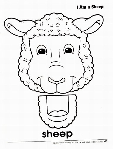 cardboard sheep template - 17 animal paper bag templates images paper bag animal