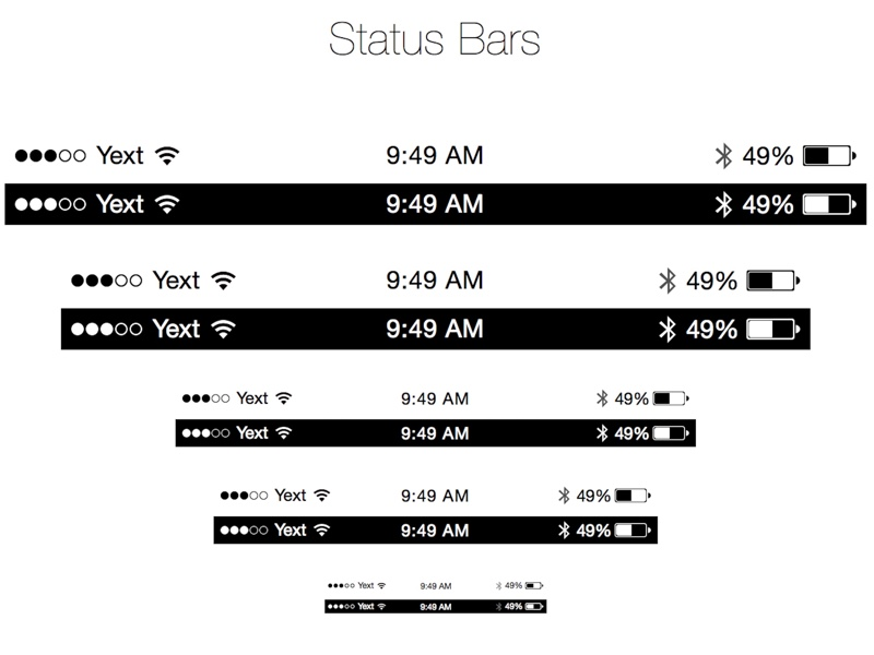 15 Apple Iphone Status Bar Icons Images Iphone 5 Status Bar Icons