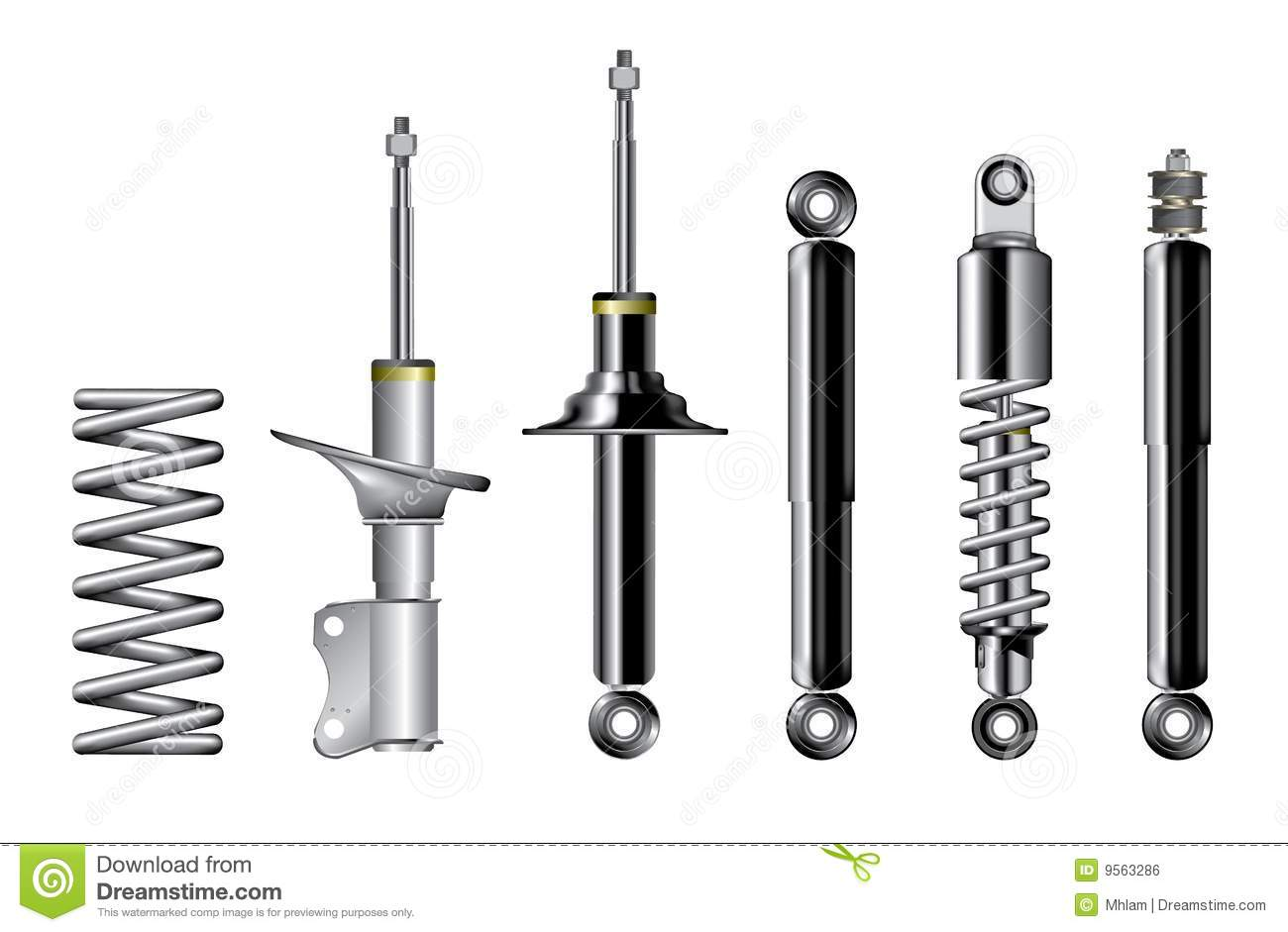 15 coil spring vector art images