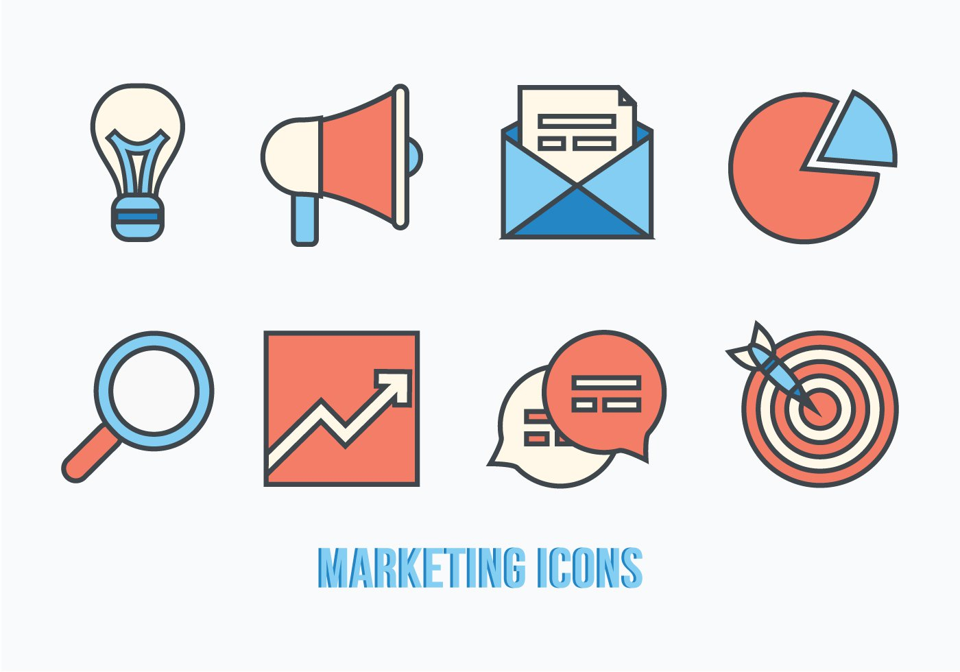 Vector Marketing Icons Free