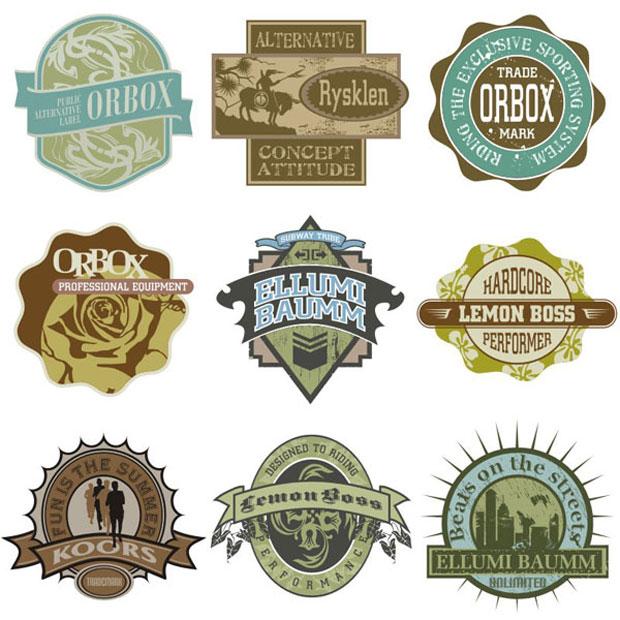 15 Vector Vintage Insignia Logo Design Images