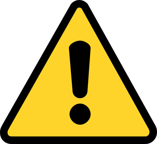 Warning Triangle with Exclamation Point