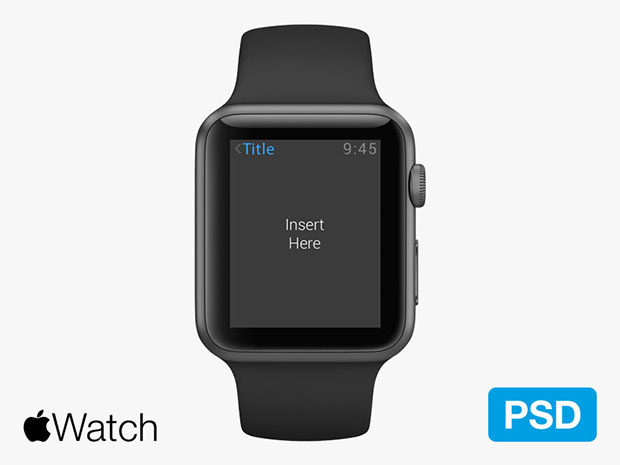 11 Apple Watch PSD Images