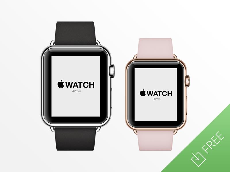 Watch Apple PSD Template