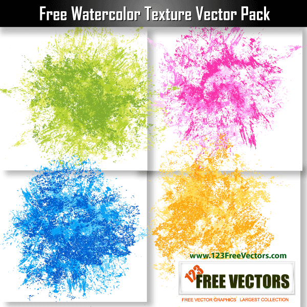 7 Watercolor Splatter Vector Free Images