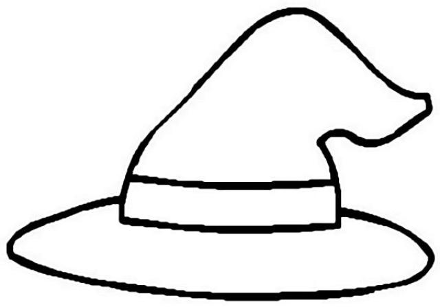 Witch Hat Coloring Page