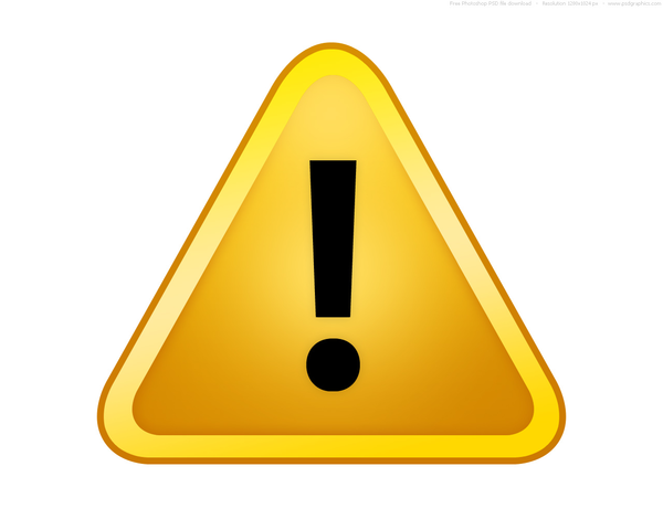 Yellow Caution Sign Clip Art