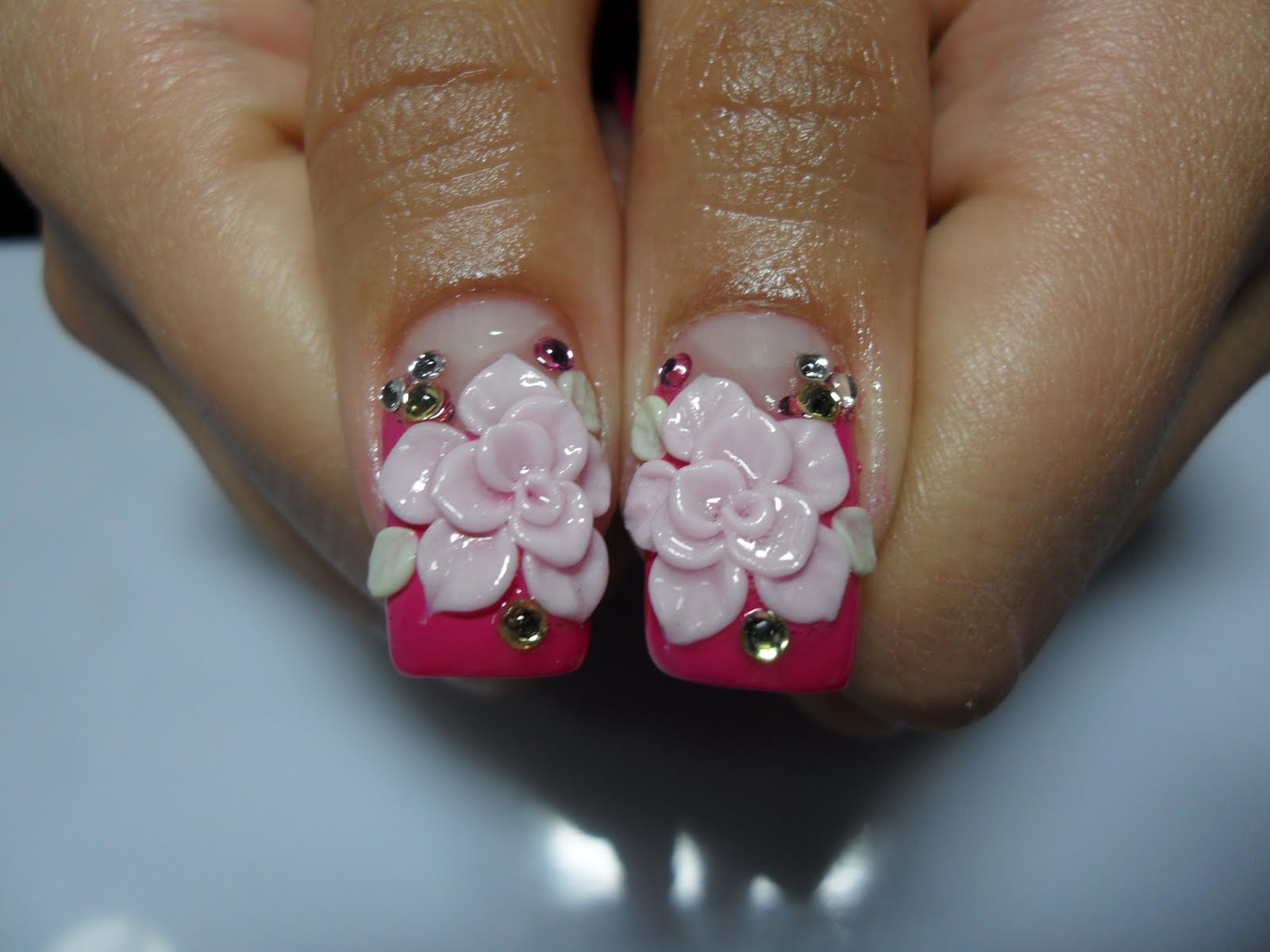 3D Acrylic Nail Designs